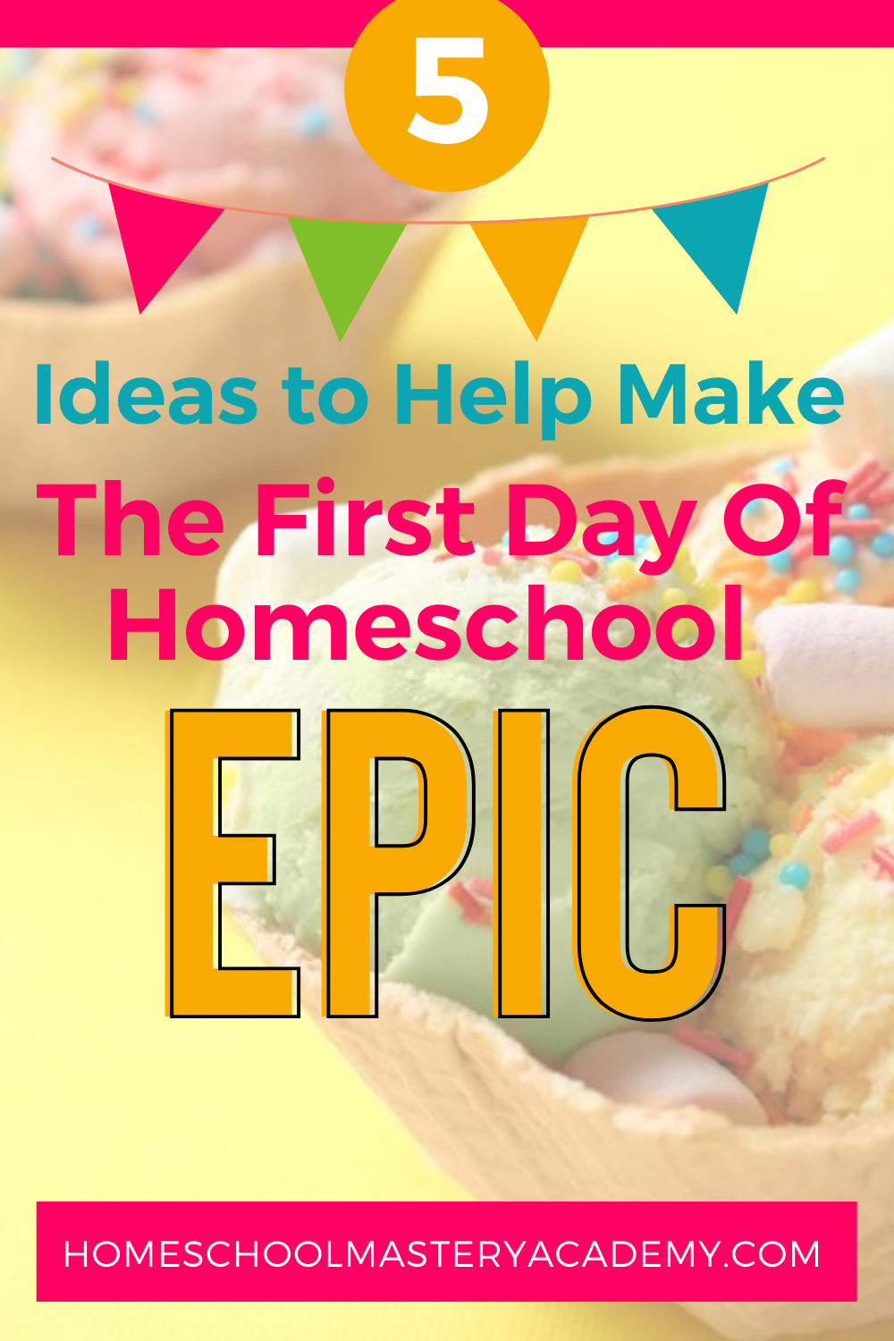 Why not create a back to homeschool tradition? Here are 5 ideas that will help you make the first day of homeschool epic for your kids! PLUS grab some FREE back-to-homeschool signs. #homeschool #firstdayofhomeschool #firstdayofhomeschoolsigns #homeschooling #backtohomeschool