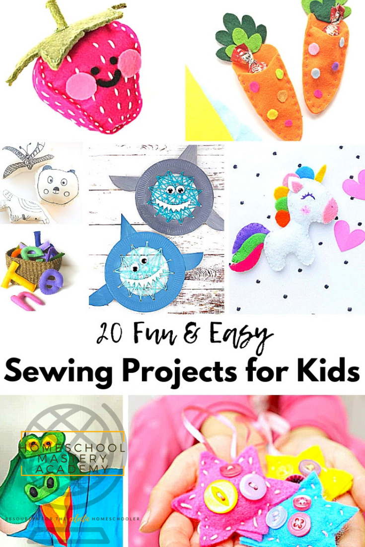 20 Fun And Easy Sewing Projects For Kids To Make