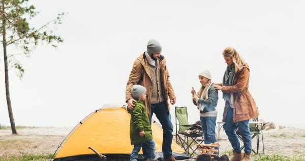 camping experience with family