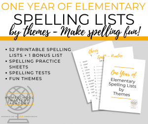 Printable Spelling Lists