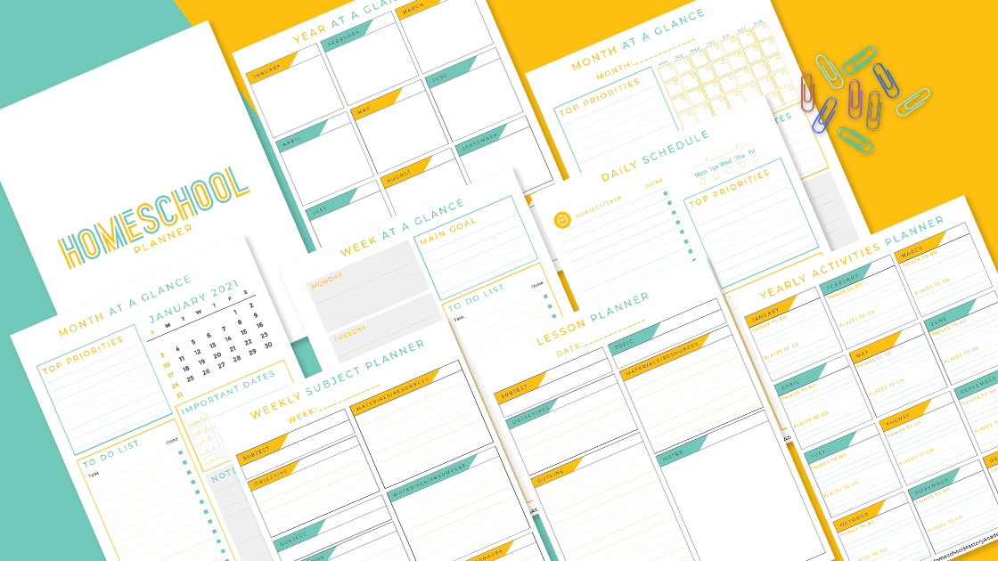 FREE 2021 Homeschool Planner