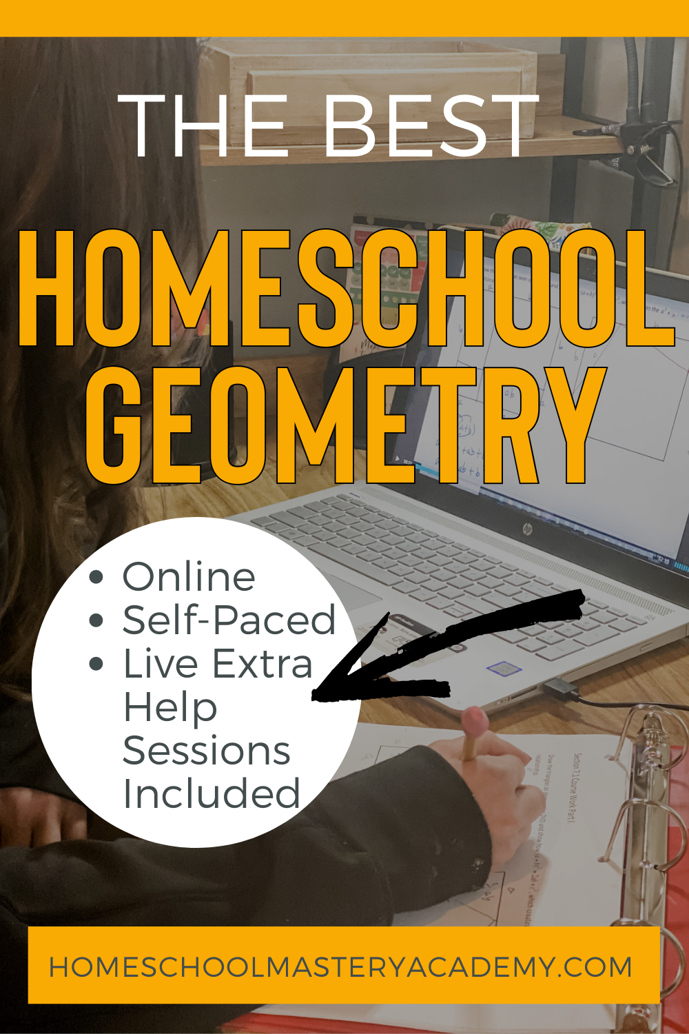 If teaching homeschool geometry has you freaking out just a little, you are not alone. We have the best option for high school math! #homeschoolgeometry #homeschoolmathcurriculum #onlinemathcurriculum #highschoolmath