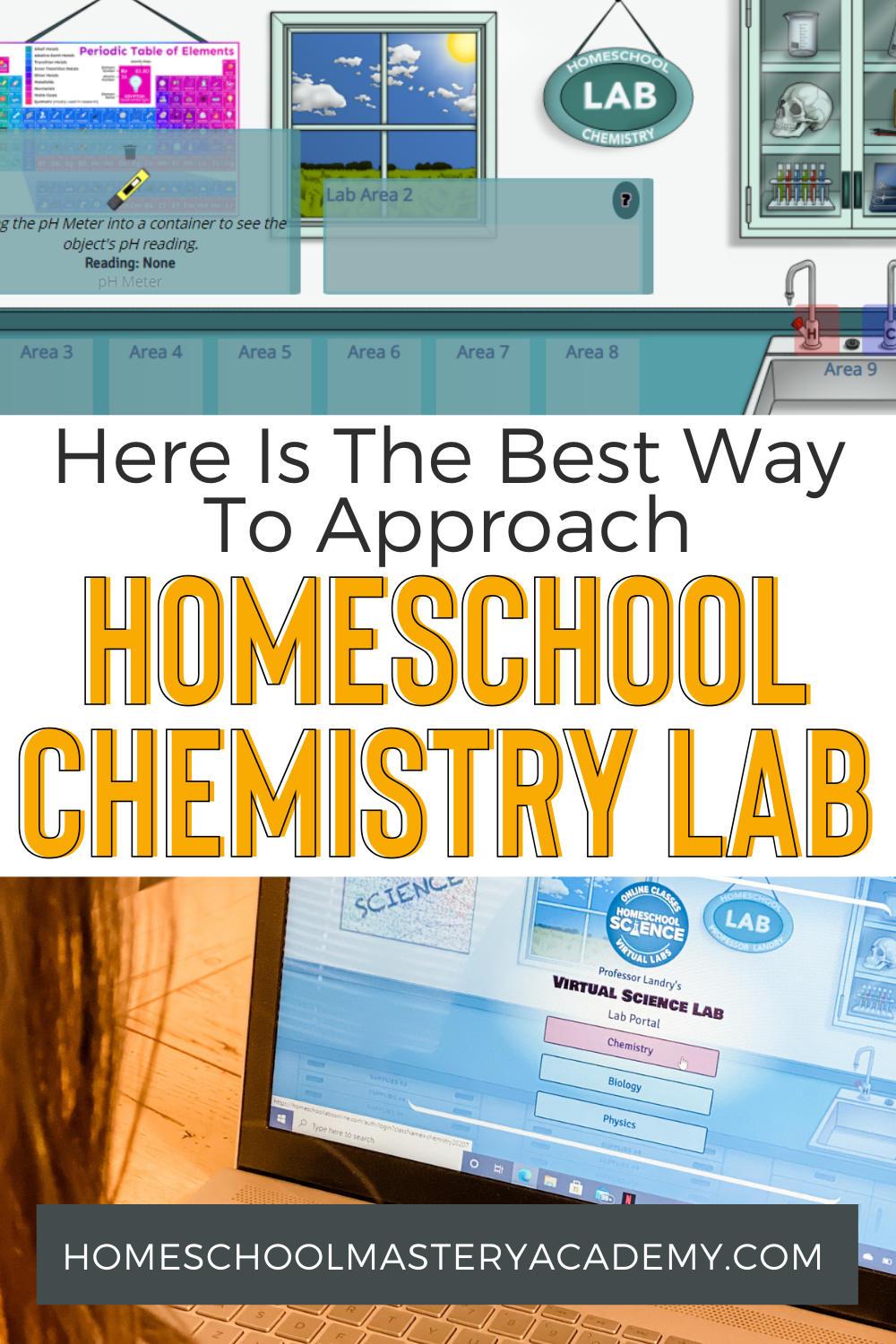 Virtual Homeschool Chemistry Labs for Homeschoolers. Check out how simple it is to cmplete science labs for high school online! #homeschool #homeschoolscience #virtuallabs #science