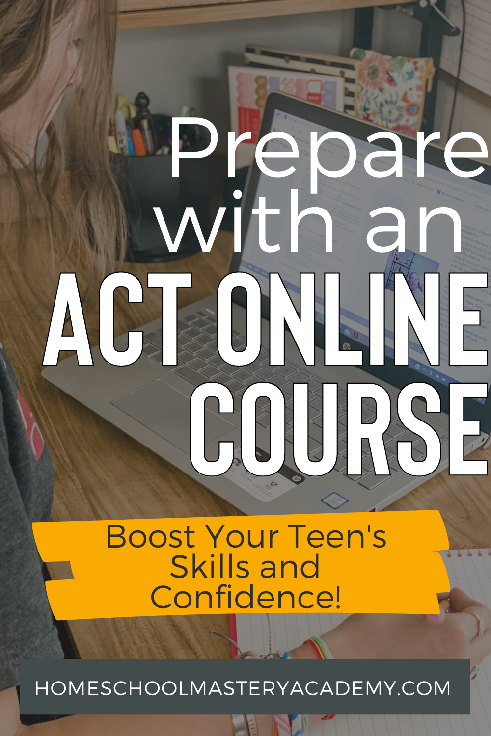 An ACT Online Course is not only perfect for preparing your teen for the actual test, but they will learn so much more along the way! #ACT #testprep #homeschool #highschool #homeschoolcurriculum