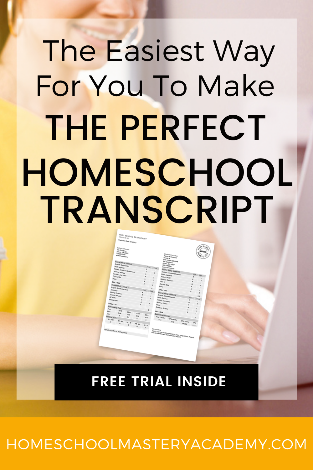 If you are unsure about creating a homeschool transcript on your own or feeling overwhelmed, we encourage you to take the easy route! #homeschooltranscript #homeschooltranscripts #homeschoolrecords #homeschoolhelp #homeschool #homeschoolhighschool