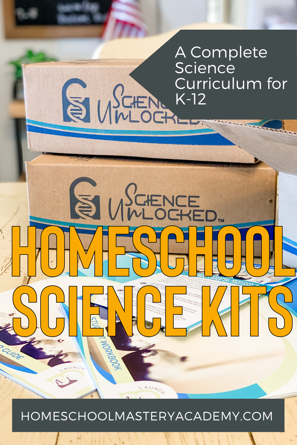 Science Unlocked Homeschool Science Kits for K-12th Grade. Check out these awesome new kits with a balanced blend of hands-on activities and workbook. Perfect for all learning styles! #homeschool #homeschoolscience #sciencecurriculum #homeschoolcurriculum