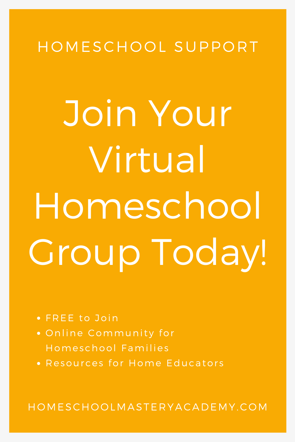 Your Virtual Homeschool Group is a FREE Online Homeschool Group Specifically for Homeschool Families Seeking Support and Home Education Resources. #homeschoolsupport #homeschoolcommunity #homeschoolhelp #homeschoolers