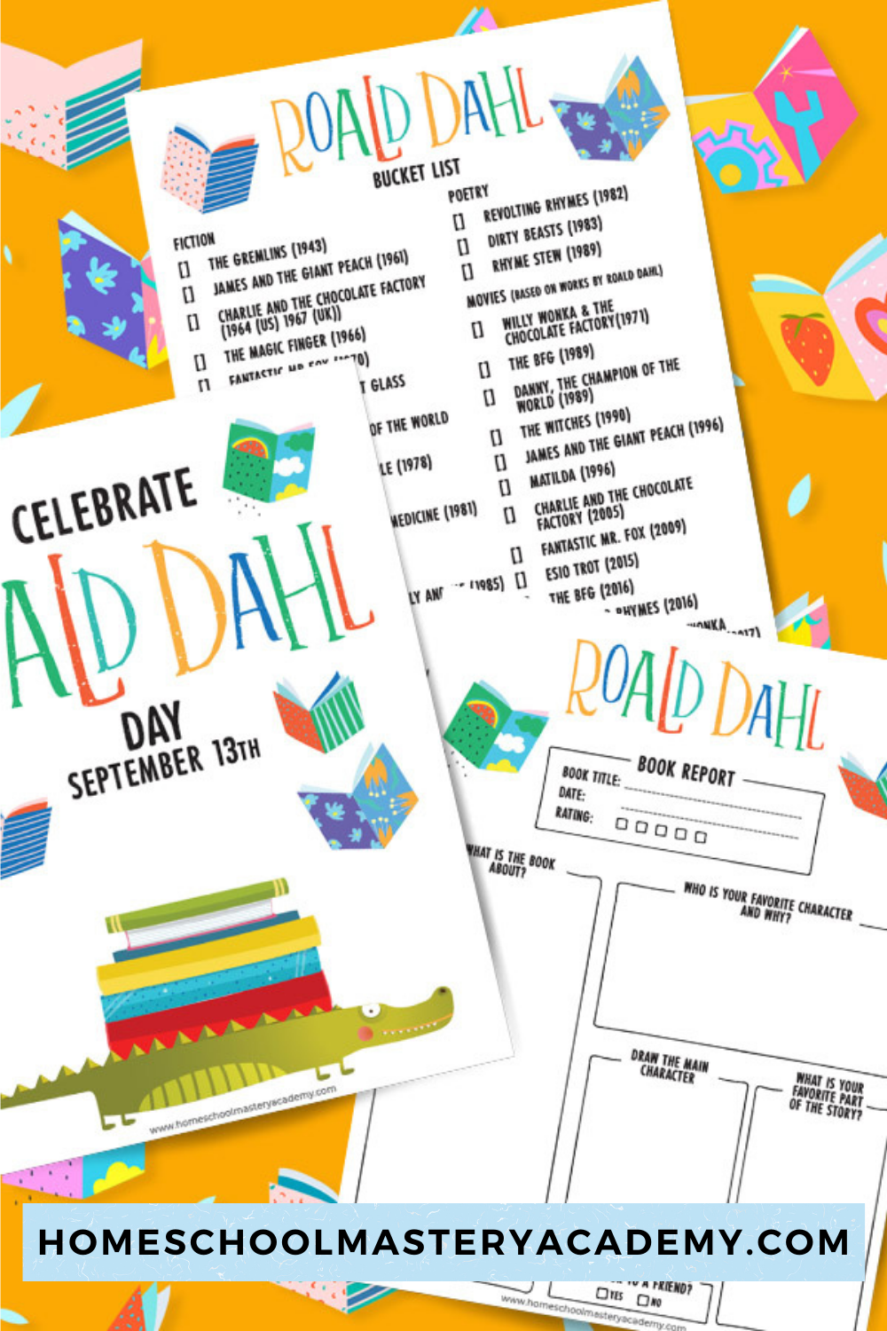 September 13th is Roald Dahl Day! So many reasons to celebrate such incredible literature, poetry, and movies that children have come to know and love. For that reason, we have created a Roald Dahl Book Report Template That Will Make Reading Come To Life! #roalddahl #booklistsforkids #childrensbooks #bookreporttemplate
